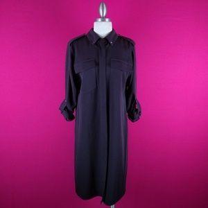 @ Michael Kos Brown Shirt Dress sz M Career